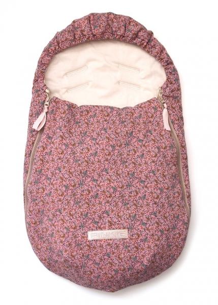 Dünner Fußsack Sweet Poet Pink BIO 0-12 Monate