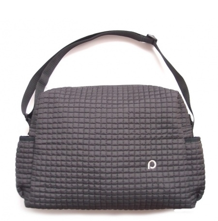 Wickeltasche Little Square Dark Grey S