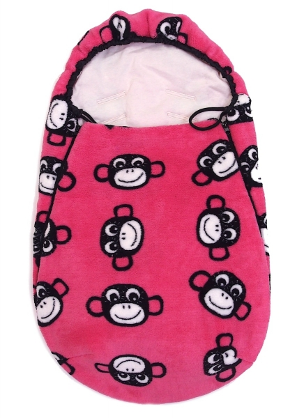 Fußsak Monkey Pink 0-12 Monate
