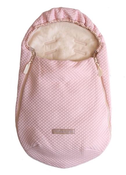 Dünner Fußsack Diamond Light Pink 0-12 Monate
