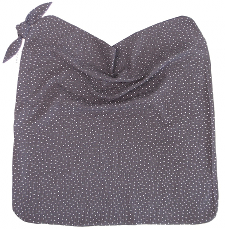 Sommerdecke  Muslin Dark Grey Dots