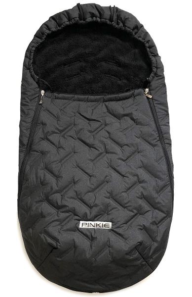 Dünner Fußsack Pinkie Zigzag Black