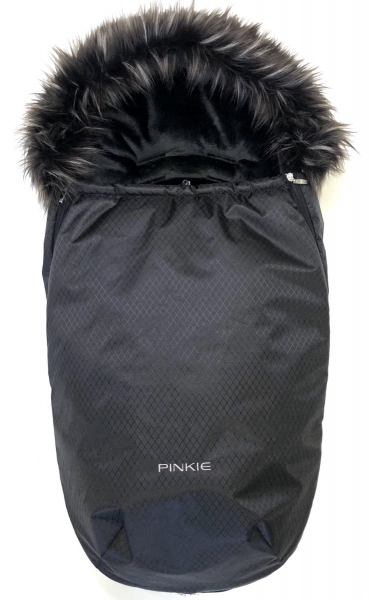 Winterfußsack  Pinkie Little Diamond mit Pelzkragen