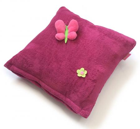 Zierkissen Dark Pink Meadow
