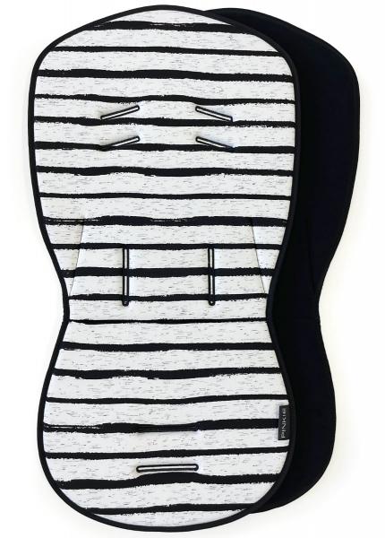 Sitzeinlage Pinkie Stripe White