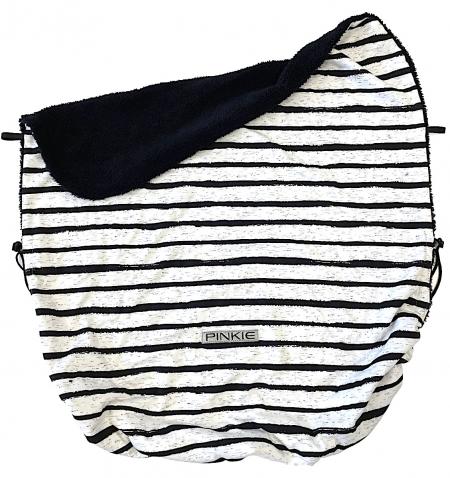 Zubindbare Decke Pinkie Stripe White