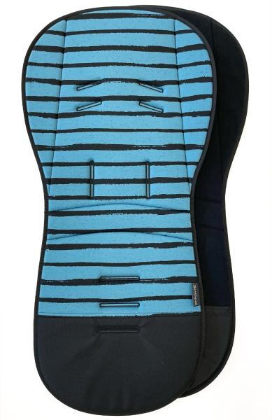 Verlängerte Sitzeinlage  Pinkie Stripe Blue