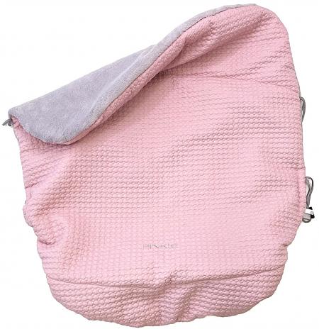 Warme zubindbare Decke  Small Pink Comb