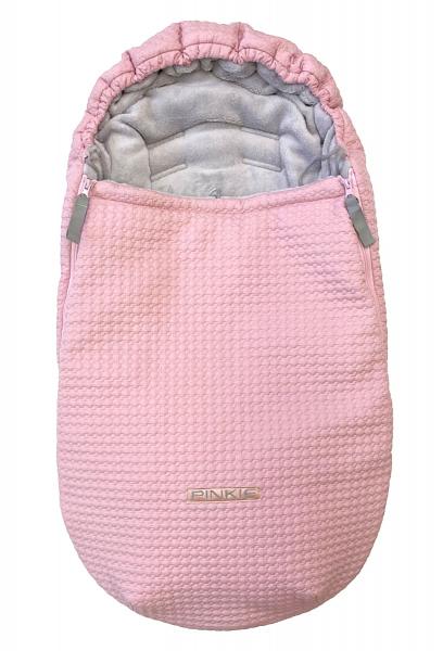Winter Fußsack  Small Pink Comb 0-12 Monate