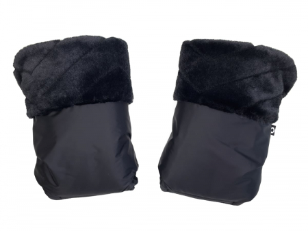 Handschuhe  Fur Black