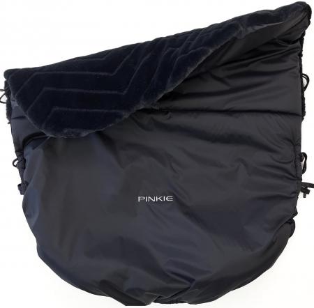Warme zubindbare Decke  Pinkie Fur Black