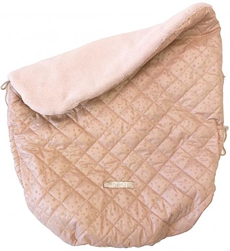 Warme zubindbare Decke  Soft Pink Dots