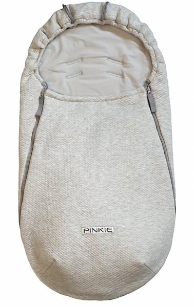 Dünner Fußsack Pinkie Grey Quilt