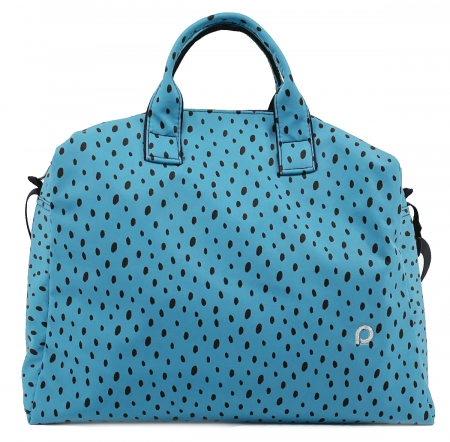 Wickeltasche Softshell Dots Blue M