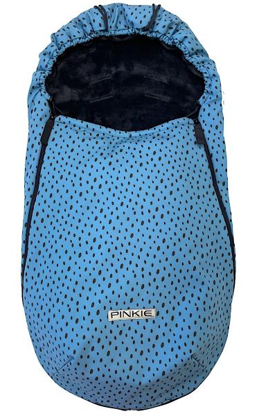 Dünner Fußsack Pinkie Softshell Dots Blue