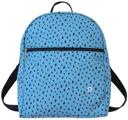 Wickelrucksack Bugee Softshell Dots Blue