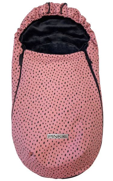 Dünner Fußsack  Pinkie Softshell Dots Pink