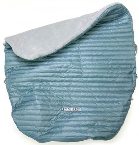 Warme zubindbare Decke  Ocean Blue