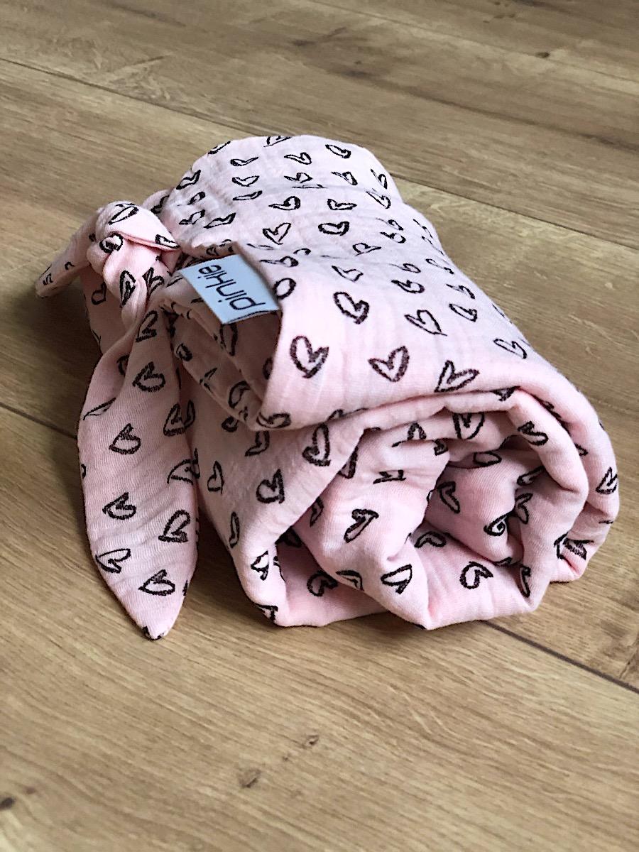 kliknutít zobrazíte maximální velikost obrázku Sommerdecke  Pinkie Muslin Pink Heart