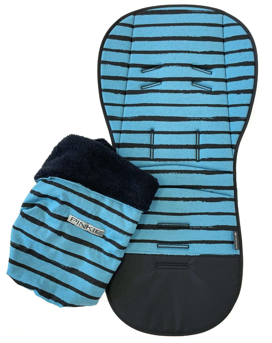 kliknutít zobrazíte maximální velikost obrázku Verlängerte Sitzeinlage  Pinkie Stripe Blue