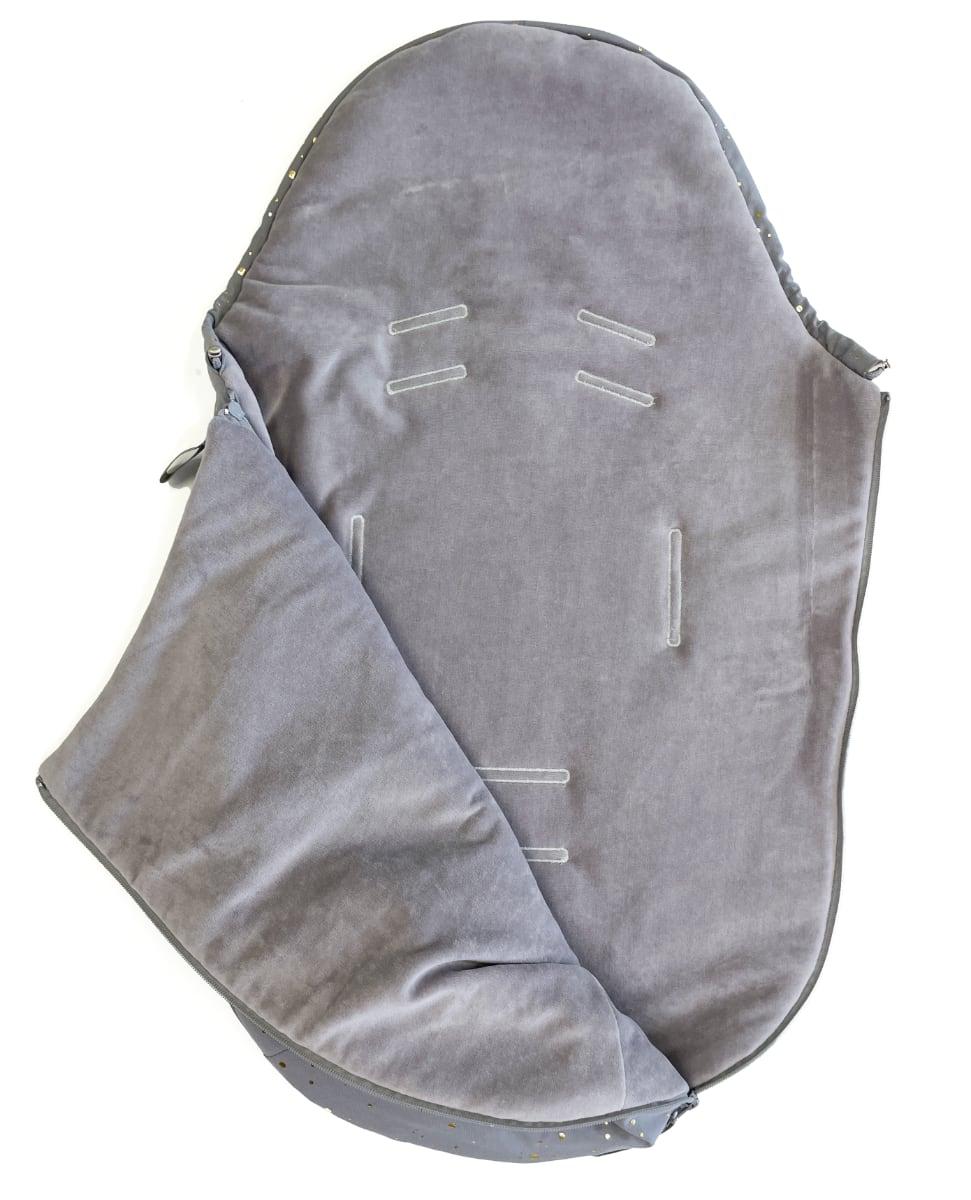 kliknutít zobrazíte maximální velikost obrázku Dünner Fußsack  Shine Gold Grey 0-12 Monate