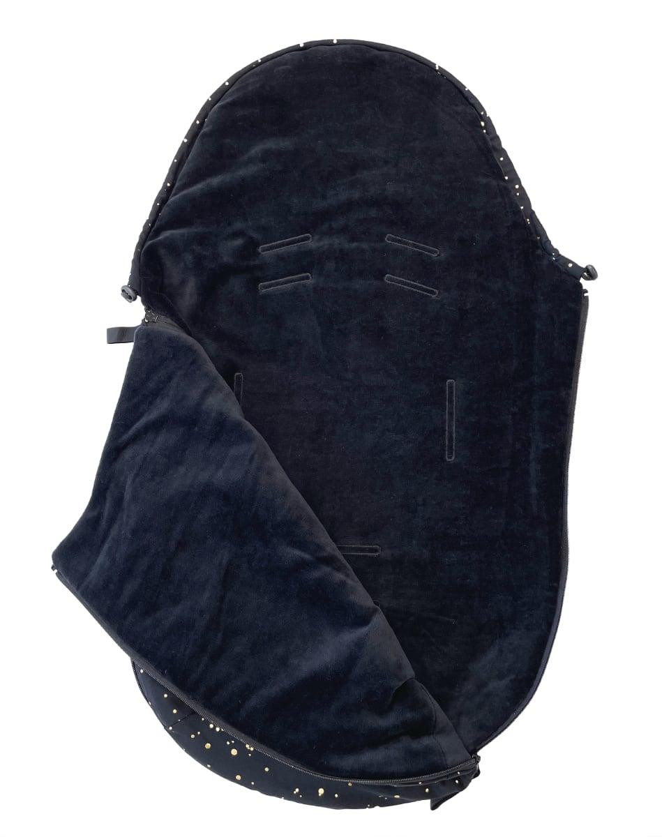 kliknutít zobrazíte maximální velikost obrázku Dünner Fußsack Shine Gold Black 0-12 Monate